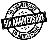 5th anniversary stamp. 5th anniversary grunge vintage stamp isolated on white background. 5th anniversary. sign royalty free illustration