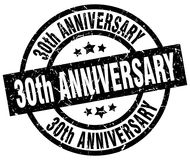 30th anniversary stamp. 30th anniversary grunge vintage stamp isolated on white background. 30th anniversary. sign Royalty Free Stock Images