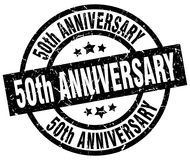 50th anniversary stamp. 50th anniversary grunge vintage stamp isolated on white background. 50th anniversary. sign royalty free illustration
