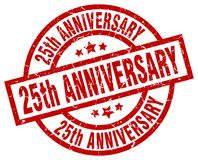25th anniversary stamp. 25th anniversary grunge vintage stamp isolated on white background. 25th anniversary. sign Stock Image