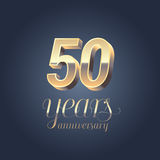 50th anniversary  icon, logo Stock Images