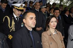 167th Anniversary of the Italian Police. Public ceremony royalty free stock image