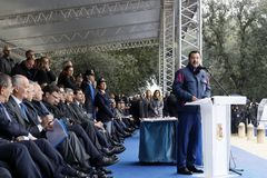 167th Anniversary of the Italian Police. Public ceremony stock photo