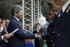 167th Anniversary of the Italian Police. Public ceremony stock images