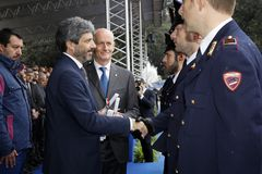 167th Anniversary of the Italian Police. Public ceremony royalty free stock photo