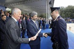 167th Anniversary of the Italian Police. Public ceremony stock image