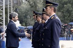 167th Anniversary of the Italian Police. Public ceremony royalty free stock photography