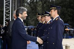167th Anniversary of the Italian Police. Public ceremony royalty free stock images