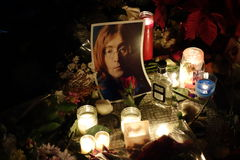 The 34th Anniversary Of John Lennon's Death At Strawberry Fields 1 Stock Photography