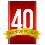 40th anniversary label Royalty Free Stock Photo