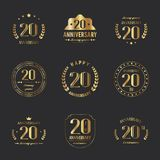20th anniversary logo collection. Vector Royalty Free Stock Image