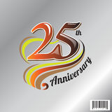25 th anniversary logo and symbol design Stock Photography
