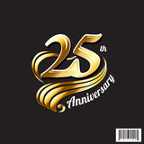 25 th anniversary logo and symbol design Royalty Free Stock Image