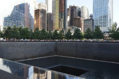 14th Anniversary Of 9/11 82. The National September 11 Memorial is a tribute of remembrance and honor to the nearly 3,000 people killed in the terror attacks of stock images
