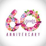 60 flowers logo idea