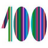 100 th Anniversary - one hundred number. Number 100 made with color bars - suitable for themes like anniversary, birthday - EPS 10 file with gradient Stock Photography