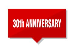 30th anniversary price tag. 30th anniversary red square price tag Stock Images