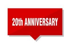 20th anniversary price tag. 20th anniversary red square price tag Stock Photo