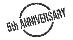 5th anniversary stamp. 5th anniversary round grunge stamp. 5th anniversary sign. 5th anniversary vector illustration