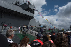 The 75th Anniversary of Royal New Zealand Navy. Royalty Free Stock Images