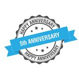 5th anniverssary stamp illustration Stock Photos