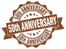 50th anniversary seal. stamp. 50th anniversary round seal isolated on white background. 50th anniversary royalty free illustration