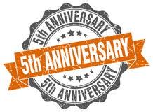 5th anniversary seal. stamp. 5th anniversary round seal  on white background. 5th anniversary stock illustration