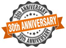 30th anniversary seal Royalty Free Stock Photos