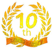 10th anniversary seal. On a white background Royalty Free Stock Photography