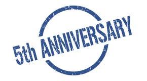 5th anniversary stamp. 5th anniversary round grunge stamp. 5th anniversary sign. 5th anniversary royalty free illustration