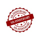 5th anniversary stamp illustration Royalty Free Stock Photos