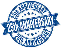 25th anniversary stamp Royalty Free Stock Image