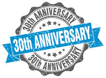 30th anniversary stamp. Sign. seal stock illustration