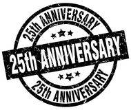 25th anniversary stamp. 25th anniversary grunge vintage stamp isolated on white background. 25th anniversary. sign Stock Photo