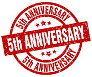 5th anniversary stamp. 5th anniversary grunge vintage stamp isolated on white background. 5th anniversary. sign vector illustration