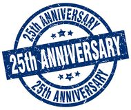 25th anniversary stamp. 25th anniversary grunge vintage stamp isolated on white background. 25th anniversary. sign Royalty Free Stock Image
