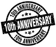10th anniversary stamp. 10th anniversary grunge vintage stamp isolated on white background. 10th anniversary. sign Royalty Free Illustration