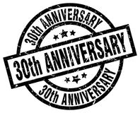 30th anniversary stamp. 30th anniversary grunge vintage stamp isolated on white background. 30th anniversary. sign Stock Images