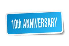 10th anniversary sticker Royalty Free Stock Image