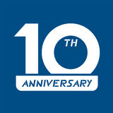 10th anniversary symbol. Design of 10th anniversary symbol Royalty Free Stock Image