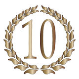 10th Anniversary. A 10th anniversary symbol over a white background Royalty Free Illustration