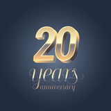 20th anniversary vector icon, logo Stock Images