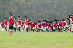 The 225th Anniversary of the Victory at Yorktown, a reenactment of the siege of Yorktown, where General George Washington commande Royalty Free Stock Photography