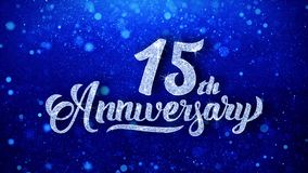 15th Anniversary Wishes Blue Glitter Sparkling Dust Blinking Particles Looped бесплатная иллюстрация