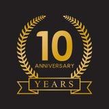 100th anniversary years laurel wreath retro gold color. Celebration logo vector vector illustration