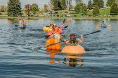 5th Annual Ginormous Pumpkin Regatta 2015 Royalty Free Stock Image
