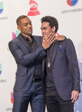 The 16th Annual Latin GRAMMY Awards. LAS VEGAS , NOV 19 : Actor Will Smith and Willard Christopher Smith III pose in the press room during the 16th Annual Latin Stock Photos
