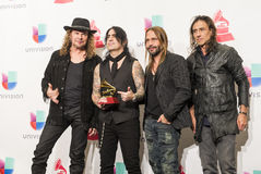 The 16th Annual Latin GRAMMY Awards. LAS VEGAS , NOV 19 : Music Group Mana in the press room during the 16th Annual Latin GRAMMY Awards on November 19 2015 at Royalty Free Stock Images