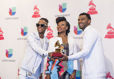 The 16th Annual Latin GRAMMY Awards. LAS VEGAS , NOV 19 : Musical group ChocQuib Town winner of Best Tropical Fusion Album atends the 16th Annual Latin GRAMMY Royalty Free Stock Images