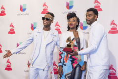 The 16th Annual Latin GRAMMY Awards. LAS VEGAS , NOV 19 : Musical group ChocQuib Town winner of Best Tropical Fusion Album attends the 16th Annual Latin GRAMMY Stock Photography
